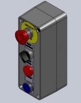 Diseño, fabricación y montaje de botoneras de 4 elementos en cajas plásticas