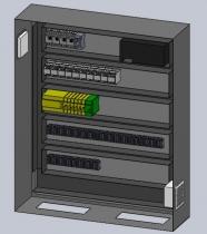 Vista interior de armarios eléctricos con MARCADO CE